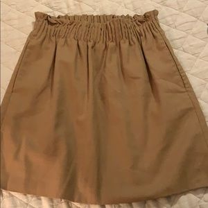 J crew wool blend cinched skirt